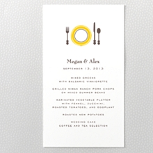 Visit Martha's Vineyard---Letterpress Menu Card