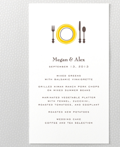 Visit Martha's Vineyard Letterpress Menu Card