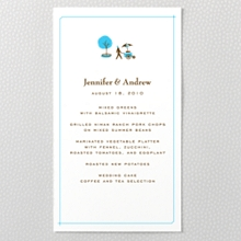 Visit New York ---Letterpress Menu Card