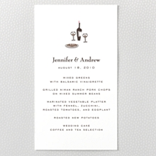 Visit Paris ---Letterpress Menu Card