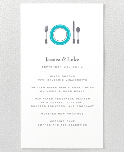 Visit Philadelphia Letterpress Menu Card