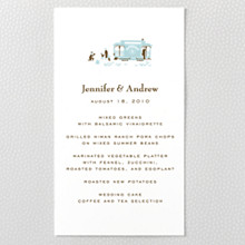 Visit San Francisco ---Letterpress Menu Card