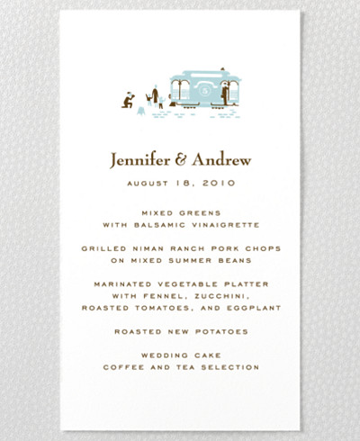 Visit San Francisco Letterpress Menu Card