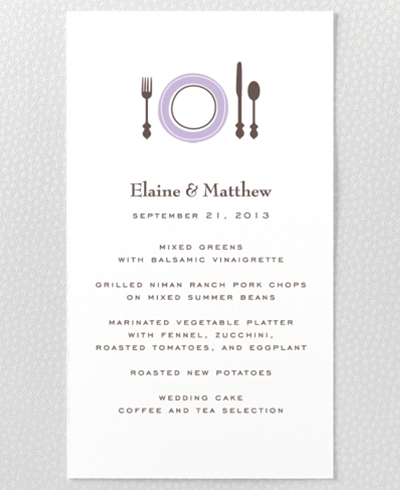 Visit Seattle Letterpress Menu Card