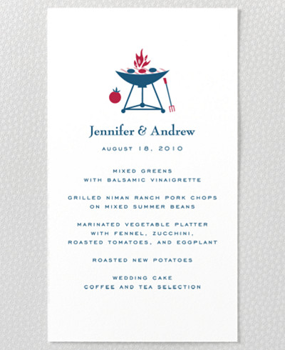 Visit Texas Menu Card