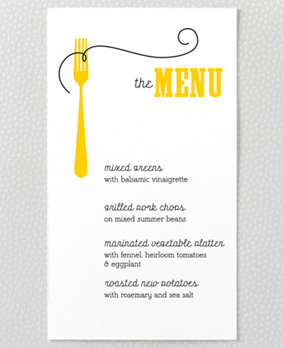 Whimsy Menu Card