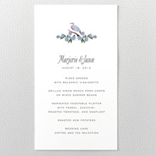 Wildflowers---Menu Card