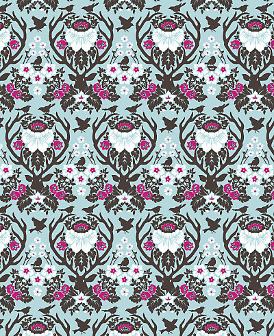 Woodland Damask Patterned Paper