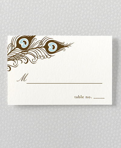 Antoinette Letterpress Place Card