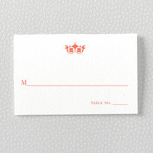 Architecture: Letterpress Place Card