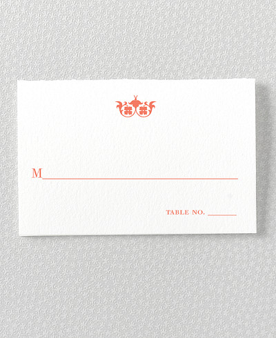 Architecture Letterpress Place Card