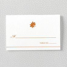 Autumn Leaves: Letterpress Place Card