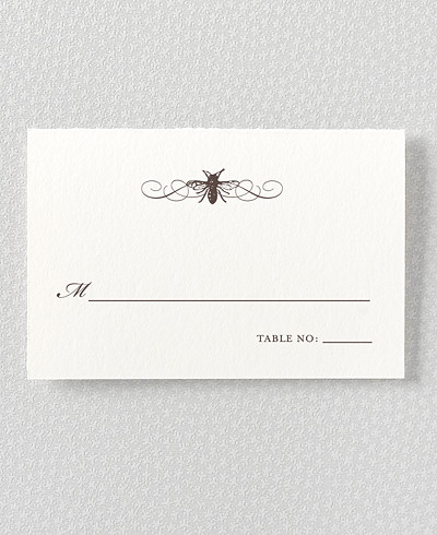 Belle Epoque Letterpress Place Card