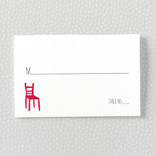 Big Day---Letterpress Place Card