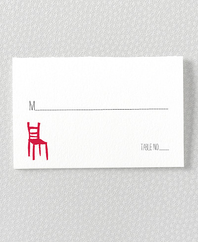 Big Day Letterpress Place Card
