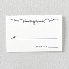 Biltmore - Letterpress Place Card
