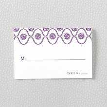 Bohemian: Letterpress Place Card