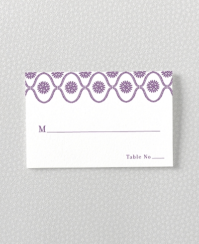 Bohemian Letterpress Place Card