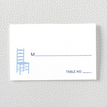 Boston Skyline: Letterpress Place Card