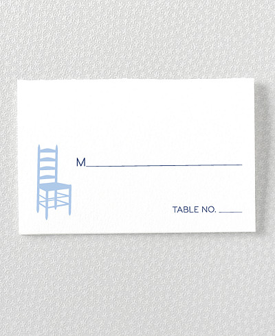 Boston Skyline Letterpress Place Card