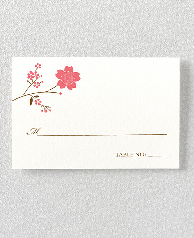 Cherry Blossom Place Card
