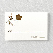 Cherry Blossom---Letterpress Place Card