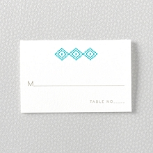 Cross Stitch - Letterpress Place Card