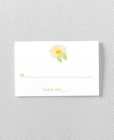 Daisy Letterpress Place Card