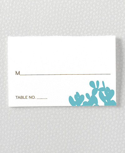Desert Skyline Letterpress Place Card