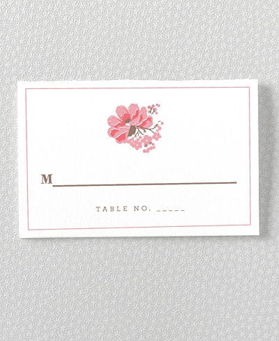 English Rose Place Card