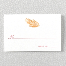 Feathers---Letterpress Place Card