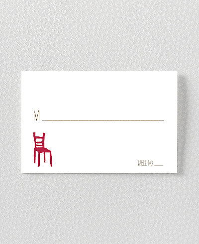 Big Day California Letterpress Place Card