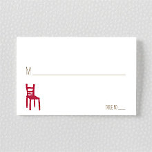 Big Day California: Letterpress Place Card