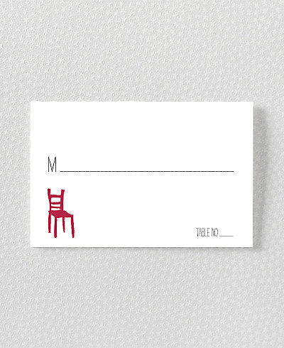 Big Day London Letterpress Place Card