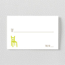 Big Day Oak: Letterpress Place Card