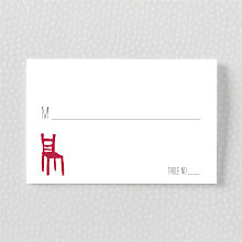 Big Day Seattle: Letterpress Place Card