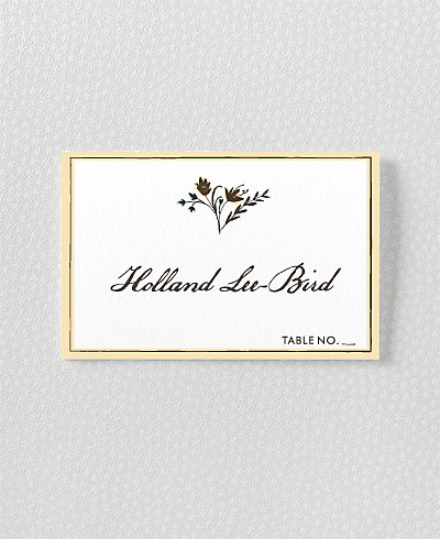 Bluegrass Place Card
