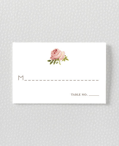 Classic Rose Place Card