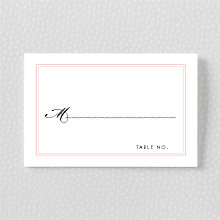 La Vie en Rose---Place Card
