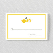 Lemonade Stand---Letterpress Place Card