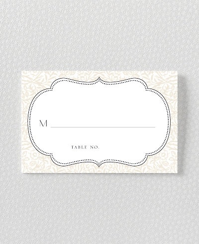 Morris Letterpress Place Card