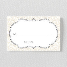 Morris: Letterpress Place Card