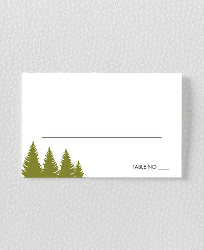 Mountain Skyline Place Card