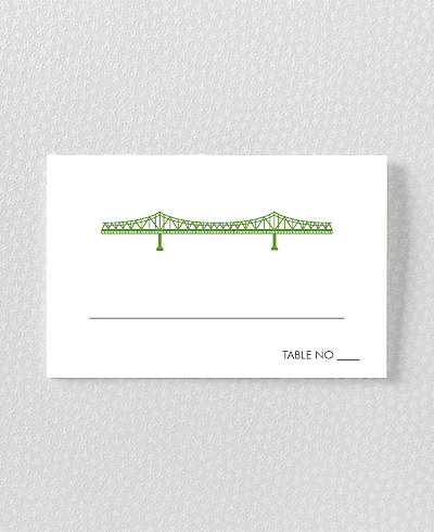 New Orleans Skyline Place Card