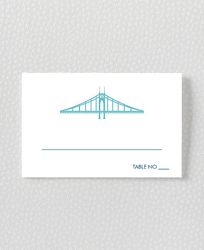 Portland Skyline Place Card