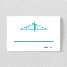 Portland Skyline---Place Card