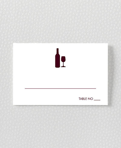 Wine Country Skyline Place Card