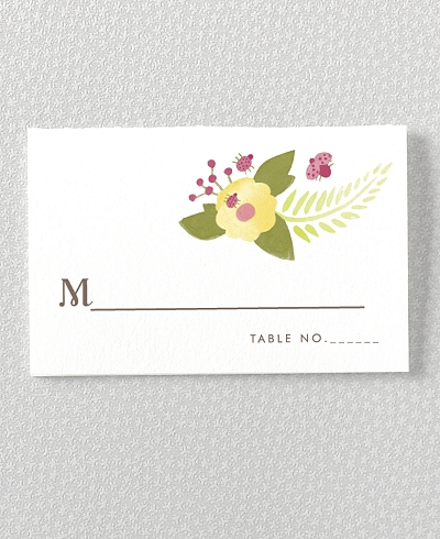Flora and Fauna Place Card