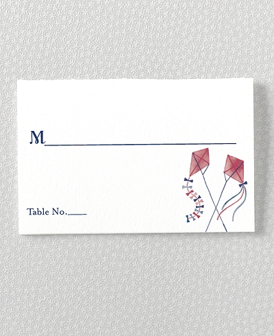 French Bicycle Place Card