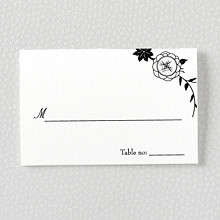 French Deco - Letterpress Place Card